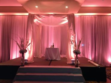 Up lighting of Wedding Canopy and Back Wall