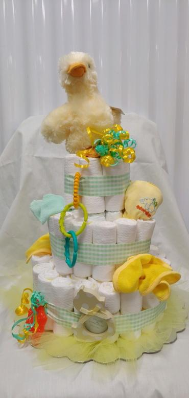 Boy or Girl Baby Diaper Cake