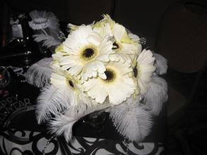 Bridal Bouquet Gerberas & Feathers