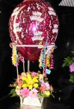 Small Hot Air Balloon with Flowers