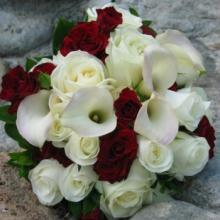 Touch of Red Bridal Bouquet
