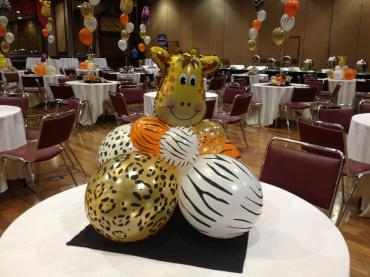 Animal Print Table Centerpiece
