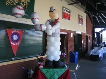 Homerun Baseball Figure Sculpture