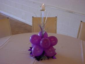 Simple Candle/Balloon Centerpiece