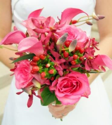 Pretty in Pink Bridal Bouquet