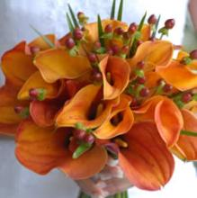 Peach Calla Lily Bridal Bouquet