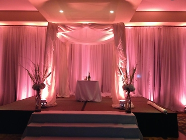 Wedding Canopy with Uplighting