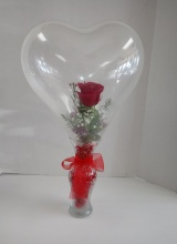 Rose in Heart Balloon