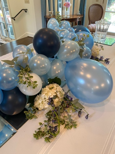 Baby\'s 1st Birthday table garland