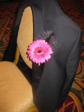 Gerbera Daisy Feather Boutonniere