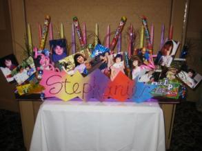 Stephanie Custom Photo Candle Lighting Centerpiece