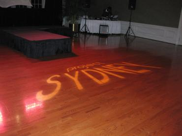 Sydney Name Custom Gobo Lighting