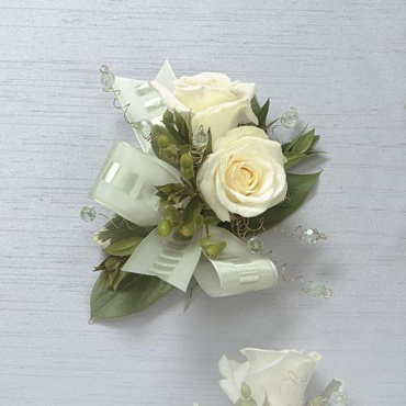 Standard White Rose Corsage