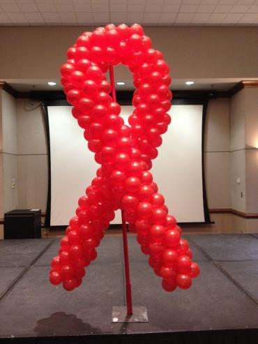 Balloon Sculpture - Red Ribbon