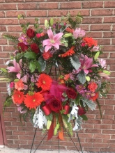 Shades of Red and Pink Wreath