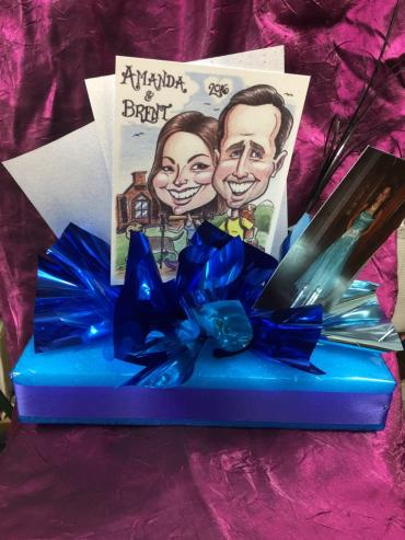 Custom Caricature Centerpiece