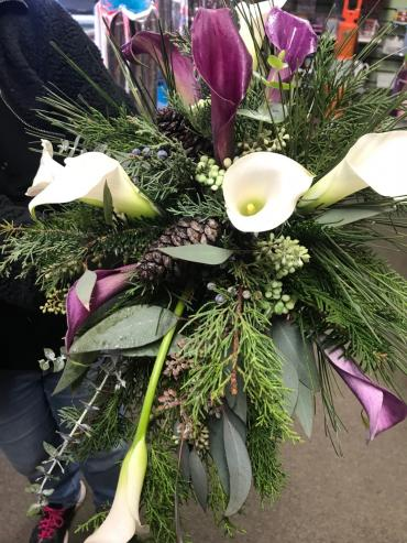 Winter Calla Lily Bridal Bouquet