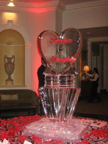Wedding Heart Ice Sculpture