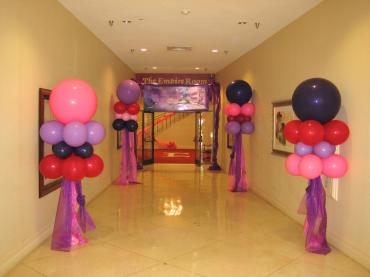 Pink and Purple Floating Tulle Columns