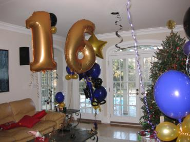 Sweet 16 Balloon Number