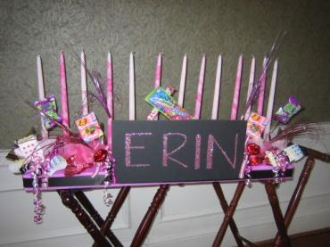 Erin Custom Candy Candle Lighting Centerpiece