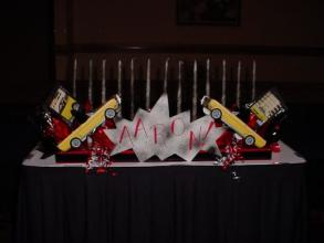 Aaron Custom Car Candle Lighting Centerpiece
