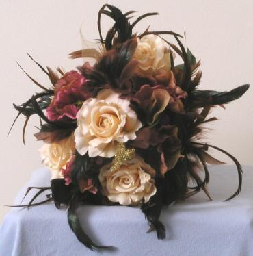 Antique Feather Bridal Bouquet