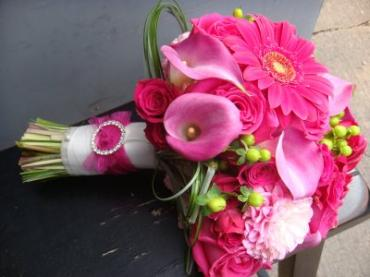 Hot Pink Contemporary Bridal Bouquet