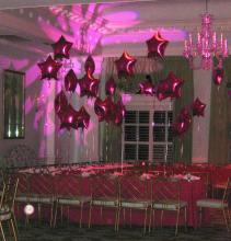 Floating Mylar Star Table Decorations