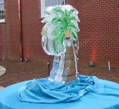Custom Made Ice Sculpture - Palm Tree