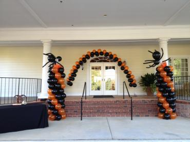 Halloween Zipper Arch with Columns