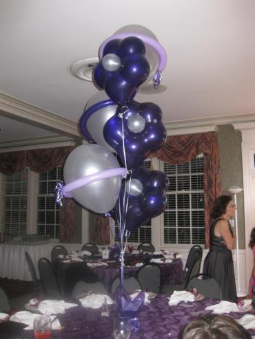 "Geo Blossom Balloon Bouquet w/16"" Latex"