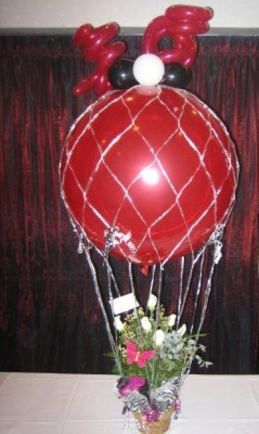 Large Hot Air Balloon with Flowers