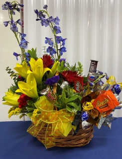 Flower and Candy Basket Combo