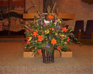 Sunset Bima/Altar Arrangement