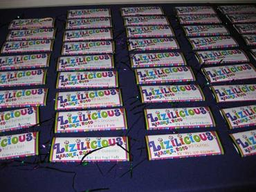 Custom Chocolate Bar Place Cards - Or Party favor