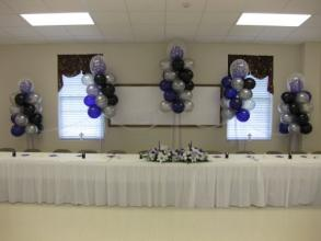 Larger Purple Tulle Floating Columns
