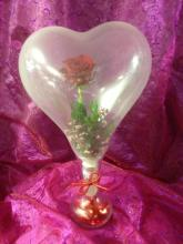 Rose in Heart Shaped Balloon