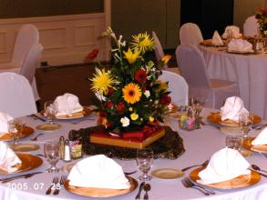Bright Tri-Color Centerpiece