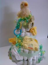 Gender Neutral Baby Diaper Cake