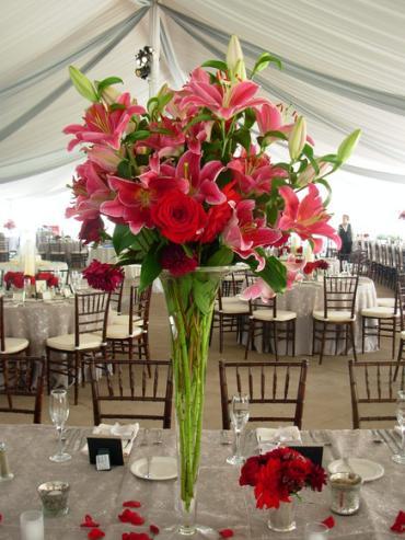 Stargazer Flute Centerpiece Nc Florist Same Day Flower