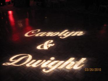 Wedding Name GoBo Lighting