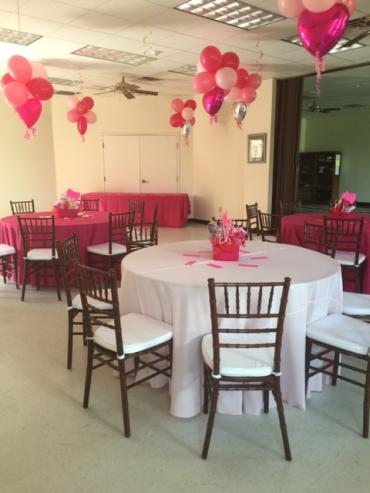 Hot Pink Baby Shower Ceiling Decor
