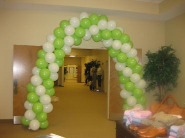 Lime & White Doorway Arch