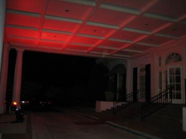 Red Outdoor Portico Ceiling Lighting