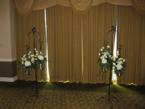 Wrought Iron and Glass Wedding Stand - Rentals