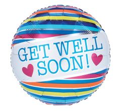 "18"" Get Well Soon Stripes"