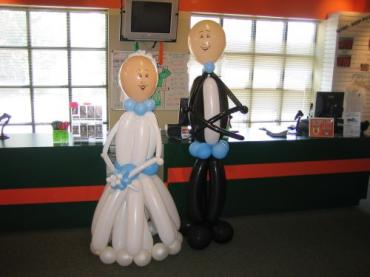 Bride and Groom Balloon People