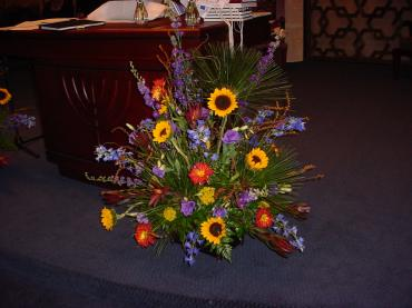 Fall Bima/Altar Arrangement
